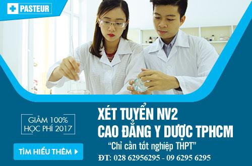 Trường Cao đẳng Y Dược Pasteur TPHCM xét tuyển NV2