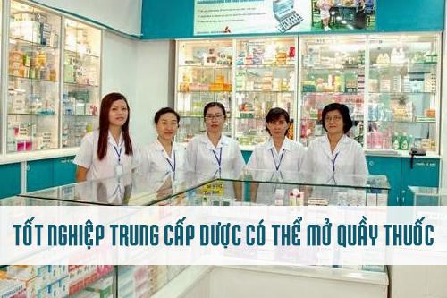 Học Trung cấp Dược TPHCM có thể mở quầy thuốc