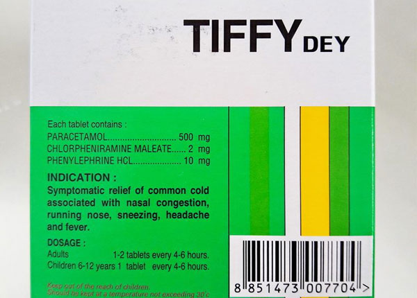Công dụng của thuốc Tiffy
