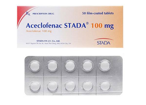 Aceclofenac thường được bào chế dạng viên nén