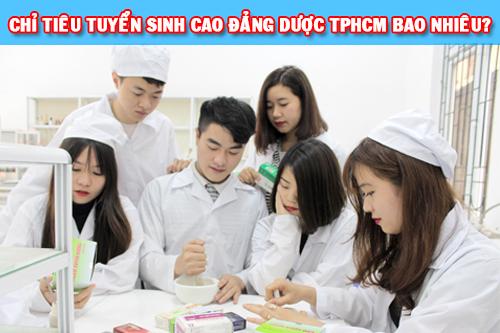 Chỉ tiêu tuyển sinh Cao đẳng Dược TPHCM bao nhiêu?
