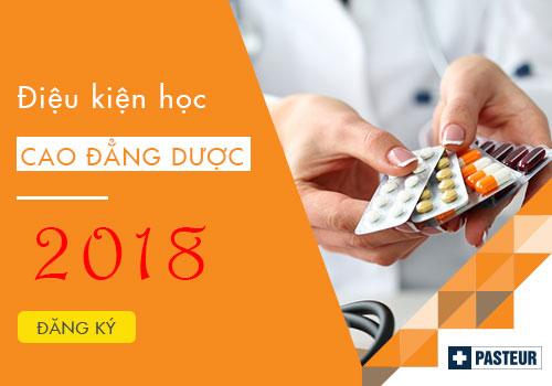 Điều kiện học Cao đẳng Dược năm 2018