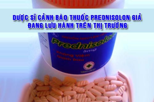 Đây là Thuốc Prednisolon 5mg giả
