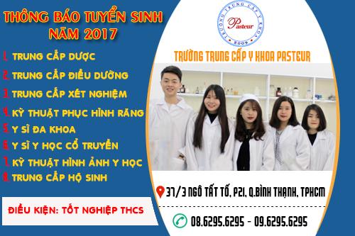 Trung cấp y khoa Pasteur tuyển sinh năm 2017