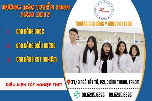 Thông tin tuyển sinh Trường Cao đẳng Y Dược Pasteur