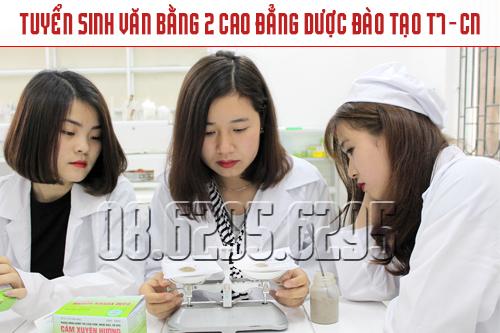 Đào tạo Văn bằng 2 Cao đẳng Dược học thứ 7 & CN